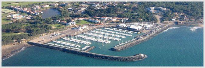 vue aérienne du Port Bourgenay